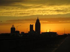 BLOG-Downtown Mobile Sunset From Bayway 04192013 [01]